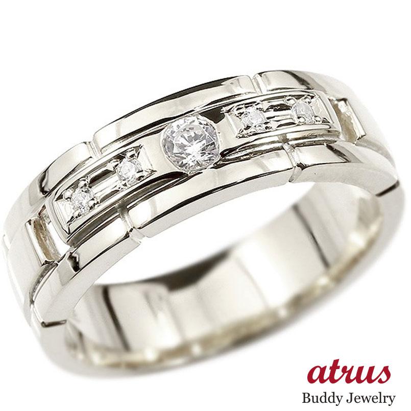 メンズ プラチナリング ダイヤモンド エンゲージリング ダイヤ 指輪 幅広 ピンキーリング pt900 宝石 男性用 ストレート 送料無料 父の日