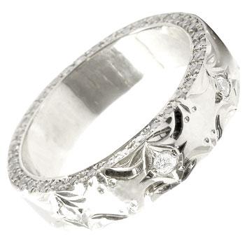 ハワイアンジュエリー メンズ ハワイアンリング プラチナダイヤモンドリング 指輪 豪華エタニティ ダイヤ ストレート 男性用 送料無料