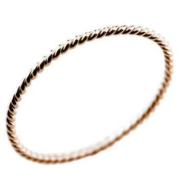 メンズリング 人気 ピンクゴールドk18 指輪 18金ピンキーリング ストレート 男性用 送料無料 父の日