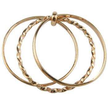 メンズリング 人気 シンプルリング ピンクゴールドk18 指輪 重ね付け3連リング 18金ピンキーリング ストレート 男性用 送料無料
