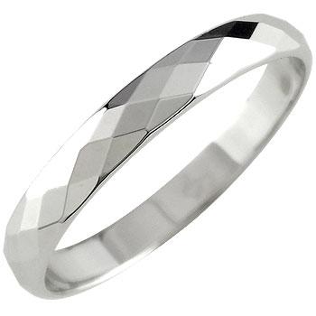 メンズリング プラチナリング 指輪 カットリング ダイヤモンドカット ピンキーリングダイヤ ストレート 男性用 送料無料 父の日