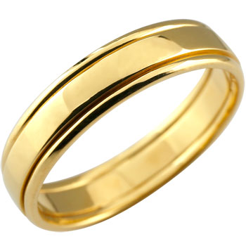 メンズジュエリー 指輪 リング シンプル 送料無料 手作り 人気 メンズ リング イエローゴールドk18 指輪 ピンキーリング 地金リング 宝石なし 18金ストレート 男性用 送料無料