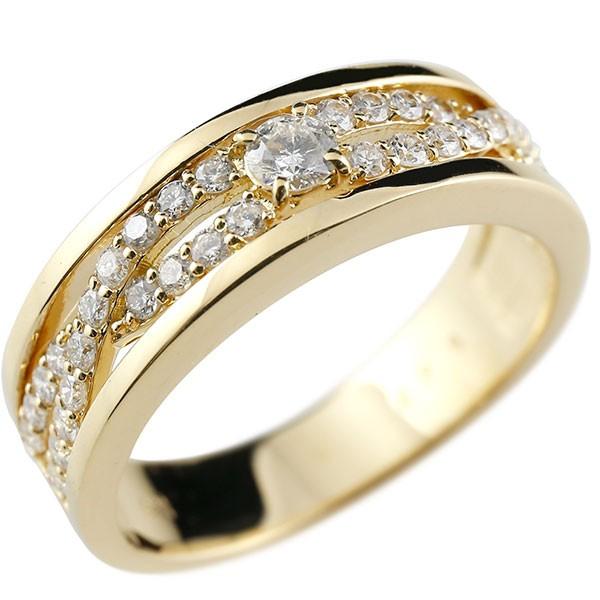 メンズリング ダイヤモンド リング イエローゴールドk18 ピンキーリング 18金 指輪 指輪 ダイヤ 送料無料