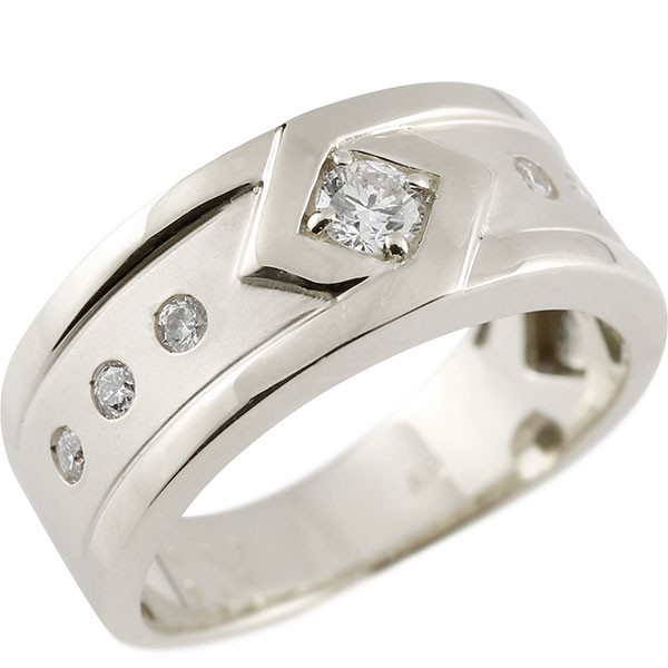 メンズリング プラチナ ダイヤモンド リング ピンキーリング 指輪 pt900 指輪 ダイヤ 送料無料