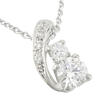 ネックレス レディース ダイヤモンド プラチナ ペンダント ダイヤ 0.28ct 大粒ダイヤ 宝石 ギフト 贈り物 プレゼント 記念日 ファッション お返し
