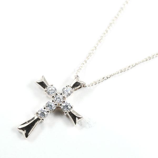 メンズネックレス クロス 十字架 ダイヤ ダイヤモンド プラチナ ペンダント ダイヤ 男性用 ギフト 贈り物 プレゼント 記念日 エンゲージリングのお返し 送料無料 母の日