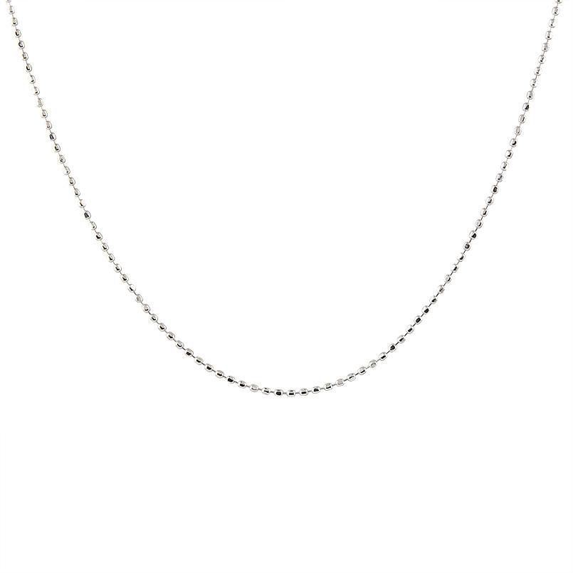 【送料無料】ロングネックレス ホワイトゴールドk14 ボールチェーン レディース 80cm 地金ネックレス 14金 ファッション お返し