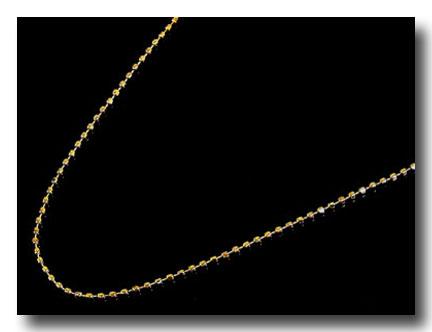 【送料無料】18金 ネックレス ネックレス イエローゴールドk18 ボールチェーン レディース 38cm 地金 ファッション 18k 妻 嫁 奥さん 女性 彼女 娘 母 祖母 パートナー