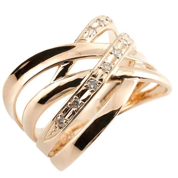 エンゲージリング ダイヤモンド リング 透かし ピンクゴールドk18 ピンキーリング 18金 指輪 指輪 ダイヤ 送料無料