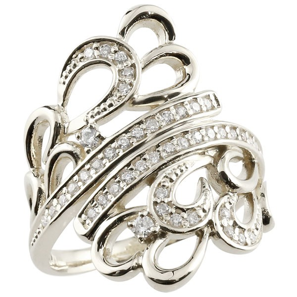 ピンキーリング アラベスク プラチナ ダイヤモンド リング 透かし 指輪 エンゲージリング pt900 ダイヤ 送料無料