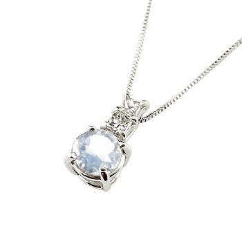 ネックレス ロイヤルブルームーンストーン ペンダント ダイヤモンド プラチナ900 シンプル レディース チェーン pt900 人気 6月誕生石 送料無料 母の日
