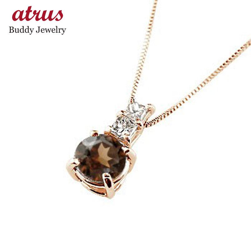 ネックレス ガーネット ペンダント ダイヤモンド ピンクゴールドk10 シンプル レディース チェーン 人気 k10 10金 1月誕生石 送料無料