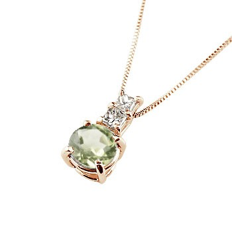 ネックレス ペリドット ペンダント ダイヤモンド ピンクゴールドk18 シンプル レディース チェーン 人気 k18 18金 8月誕生石 送料無料 母の日