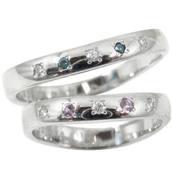 結婚指輪 【送料無料】 ペアリング マリッジリング ダイヤモンド ピンクサファイア ホワイトゴールドk18 結婚式 18金 ダイヤ カップル 贈り物 誕生日プレゼント ギフト ファッション
