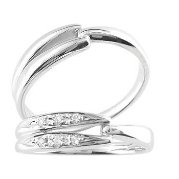 ペアリング 結婚指輪 マリッジリング シルバー925 2本セット キュービックジルコニア ストレート カップル ペア ブライダル結婚指輪 シンプル結婚指輪 人気結婚指輪 ペア シンプル 2本セット 彼女 結婚記念日 ファッション パートナー 送料無料