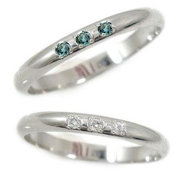 結婚指輪 甲丸 ペアリング マリッジリング ダイヤモンド ブルーダイヤモンド プラチナ 結婚式 ダイヤ ストレート カップル 2.3 贈り物 誕生日プレゼント ギフト ファッション パートナー 送料無料