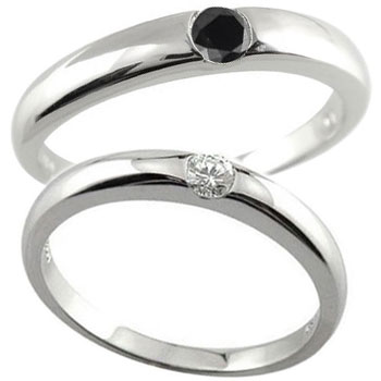 ペアリング 結婚指輪 一粒 ダイヤ ダイヤモンド ブラックダイヤモンド プラチナ 結婚式 ダイヤ ストレート カップル 贈り物 誕生日プレゼント ギフト ファッション パートナー 送料無料