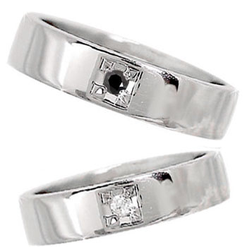 結婚指輪 ペアリング マリッジリング プラチナ 一粒ダイヤモンド ブラックダイヤモンド 幅広 結婚式 ダイヤ ストレート カップル 贈り物 誕生日プレゼント ギフト ファッション パートナー 送料無料