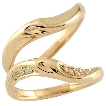 結婚指輪 ペアリング マリッジリング ダイヤモンド ピンクゴールドk18 結婚式 18金 ダイヤ ストレート カップル 贈り物 誕生日プレゼント ギフト ファッション パートナー 送料無料