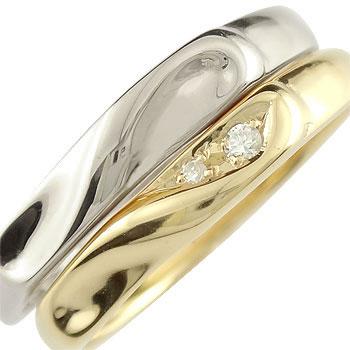 結婚指輪 ペアリング マリッジリング プラチナ ダイヤモンド ハート イエローゴールドk18 結婚式 18金 ダイヤ ストレート カップルブライダルジュエリー ウエディング 贈り物 誕生日プレゼント ギフト ファッション パートナー 送料無料