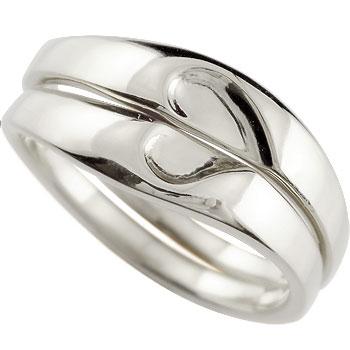 結婚指輪 ペアリング プラチナ マリッジリング ハート 結婚式 ストレート カップル ブライダル シンプル 人気 ペア シンプル 2本セット 彼女 結婚記念日 贈り物 誕生日プレゼント ギフト