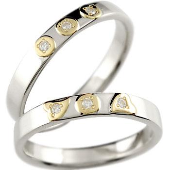 結婚指輪 ペアリング プラチナ ダイヤモンド マリッジリング イエローゴールドk18 コンビリング 結婚式 18金 ダイヤ ストレート カップル 贈り物 誕生日プレゼント ギフト ファッション パートナー 送料無料