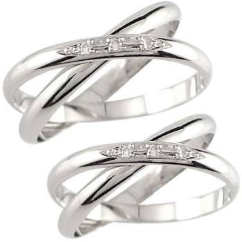 ペアリング 結婚指輪 マリッジリング ダイヤモンド 2連 ホワイトゴールドk18 結婚式 18金 ダイヤ ストレート カップル 2.3 プレゼント 女性 送料無料