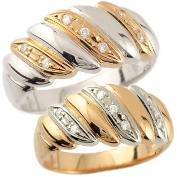 結婚指輪 刻印 ペアリング マリッジリング ダイヤモンド 幅広 ピンクゴールドk18 プラチナ 結婚式 18金 ダイヤ ストレート カップルブライダルジュエリー ウエディング 贈り物 誕生日プレゼント ギフト ファッション パートナー 送料無料