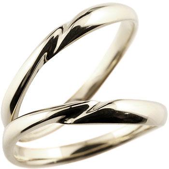 結婚指輪 ペアリング 人気 マリッジリング ホワイトゴールドk18 18金 地金リング 結婚式 シンプル 宝石なし ストレート カップル ブライダルジュエリー ウエディング 贈り物 誕生日プレゼント ギフト ファッション