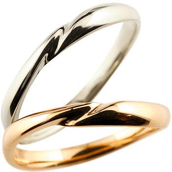 結婚指輪 ペアリング 人気 マリッジリング ホワイトゴールドk18 ピンクゴールドk18 18金 地金リング 結婚式 シンプル 宝石なし ストレート カップル ブライダルジュエリー ウエディング 贈り物 誕生日プレゼント ギフト