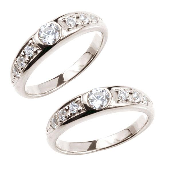 結婚指輪 鑑定書付き ペアリング ダイヤモンド プラチナ マリッジリング ダイヤ VSクラス 結婚式 ストレート カップルブライダルジュエリー ウエディング 贈り物 誕生日プレゼント ギフト ファッション パートナー
