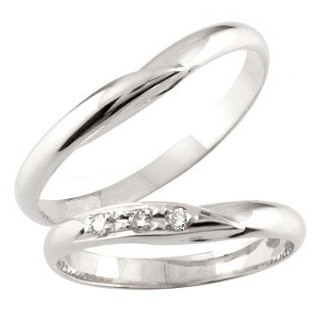 結婚指輪 ペアリング マリッジリング プラチナ ダイヤモンド 甲丸 結婚式 ダイヤ カップル 2.3 贈り物 誕生日プレゼント ギフト ファッション パートナー