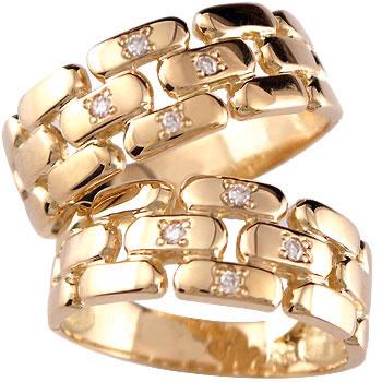 結婚指輪 ペアリング 指輪 ダイヤ ダイヤモンド ピンクゴールドk18 マリッジリング 結婚式 18金 ストレート カップル 贈り物 誕生日プレゼント ギフト ファッション パートナー