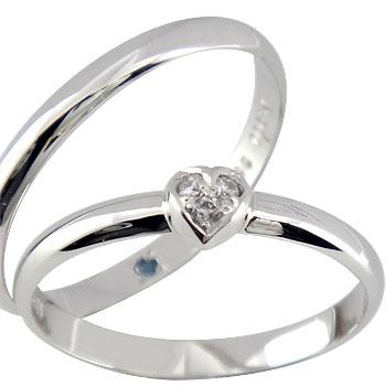 結婚指輪 【送料無料】 ペアリング マリッジリング ダイヤモンド ハート ホワイトゴールドk18 結婚式 18金 ダイヤ ストレート カップル 2.3 贈り物 誕生日プレゼント ギフト ファッション パートナー