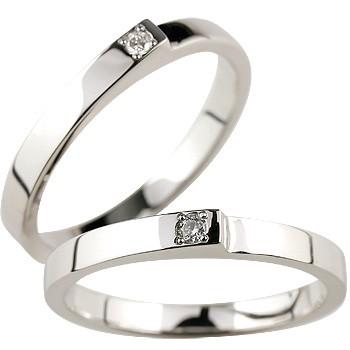 結婚指輪 【送料無料】 ペアリング ダイヤ ダイヤモンド ホワイトゴールドk18 マリッジリング 結婚式 18金 ストレート カップル ブライダルジュエリー ウエディング 贈り物 誕生日プレゼント ギフト ファッション