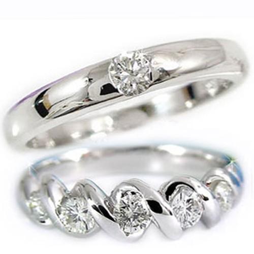 結婚指輪 【送料無料】ペアリング マリッジリング ダイヤ ダイヤモンド リングプラチナ900 リング2本セット 結婚式 ストレート カップル 贈り物 誕生日プレゼント ギフト ファッション