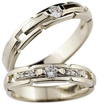 結婚指輪 マリッジリング ペアリング プラチナ900 ダイヤ ダイヤモンド リング ハンドメイド2本セット 松 結婚式 ダイヤ ストレート カップル 贈り物 誕生日プレゼント ギフト ファッション パートナー