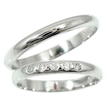 結婚指輪 刻印 ペアリング プラチナ マリッジリング ダイヤモンド 甲丸 結婚式 ダイヤ ストレート カップル 2.3 贈り物 誕生日プレゼント ギフト ファッション パートナー