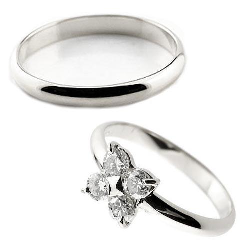 結婚指輪 ペアリング ダイヤモンド シルバー925 SV9252本セット ダイヤ ストレート カップル 2.3 贈り物 誕生日プレゼント ギフト ファッション パートナー 送料無料