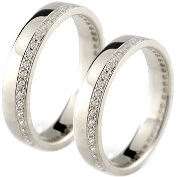 結婚指輪 ペアリング マリッジリング フルエタニティ ダイヤモンド ホワイトゴールドk18 18金 ダイヤ ストレート カップル 贈り物 誕生日プレゼント ギフト ファッション パートナー 送料無料