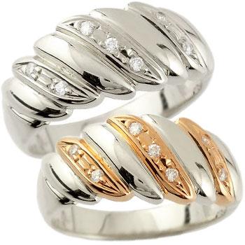 結婚指輪 ペアリング プラチナ マリッジリング ダイヤモンド ピンクゴールドk18 幅広 結婚式 18金 ダイヤ ストレート カップル 贈り物 誕生日プレゼント ギフト ファッション パートナー 送料無料