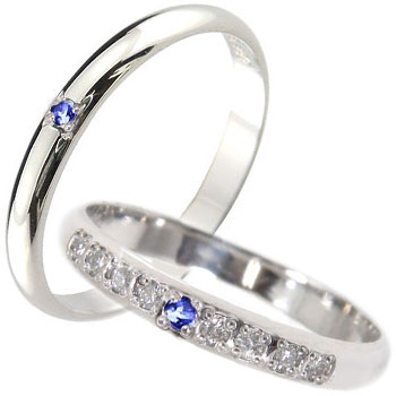結婚指輪 ペアリング プラチナ ダイヤモンド マリッジリング サファイア 甲丸 ダイヤ ストレート カップル 贈り物 誕生日プレゼント ギフト ファッション パートナー 送料無料