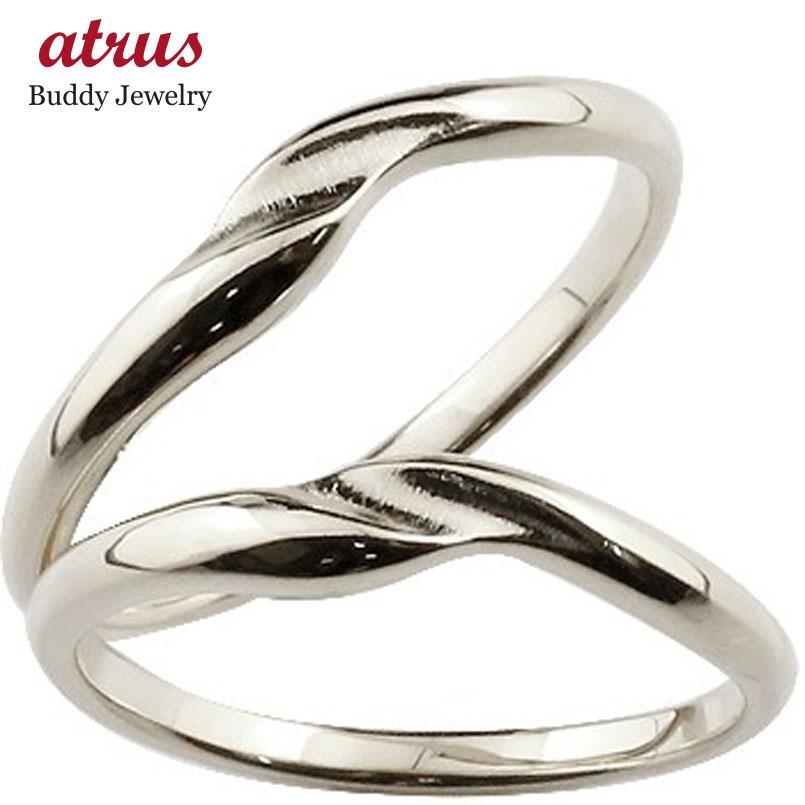 結婚指輪 ペアリング マリッジリング 地金リング ホワイトゴールドk18 シンプル つや消し 18金 結婚式 ストレート スイートペアリィー カップル 贈り物 誕生日プレゼント ギフト ファッション パートナー 送料無料