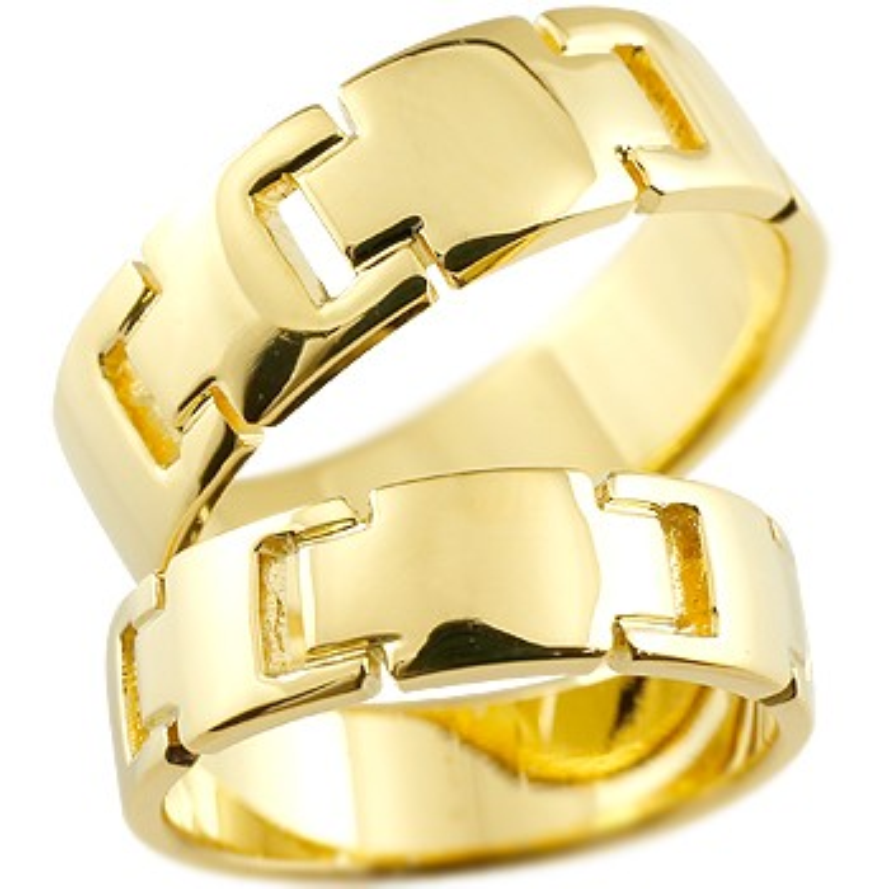 結婚指輪 ペアリング クロス マリッジリング 地金リング イエローゴールドk18 18金 十字架 シンプル 結婚式 宝石なし 人気 ストレート カップル 贈り物 誕生日プレゼント ギフト ファッション パートナー 送料無料