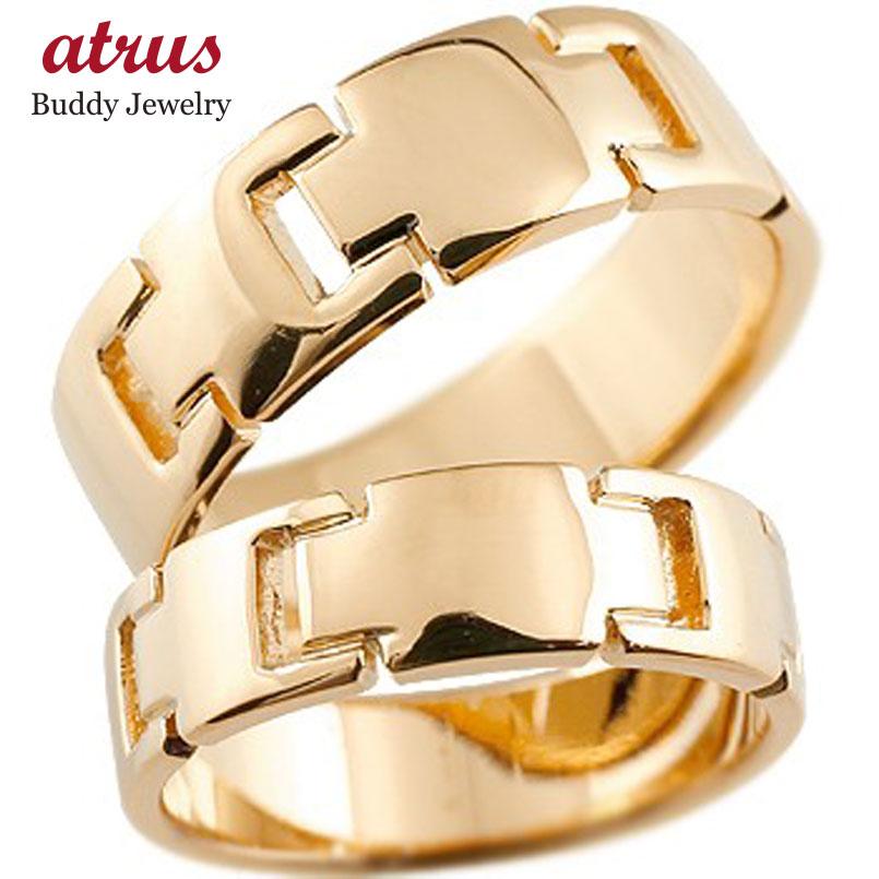 ペアリング クロス 結婚指輪 マリッジリング 地金リング ピンクゴールドk18 18金 十字架 シンプル 結婚式 宝石なし 人気 ストレート カップル 贈り物 誕生日プレゼント ギフト ファッション パートナー 送料無料