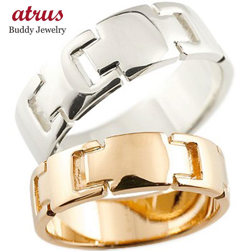 結婚指輪 ペアリング クロス マリッジリング 地金リング プラチナ ピンクゴールドk18 十字架 シンプル 結婚式 pt900 18金 宝石なし 人気 ストレート カップル 贈り物 誕生日プレゼント ギフト ファッション パートナー 送料無料