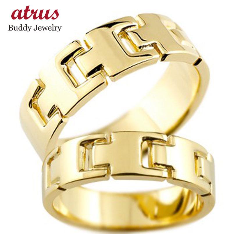 結婚指輪 ペアリング マリッジリング 地金リング イエローゴールドk18 シンプル 結婚式 18金 宝石なし 人気 ストレート カップル 贈り物 誕生日プレゼント ギフト ファッション パートナー 送料無料
