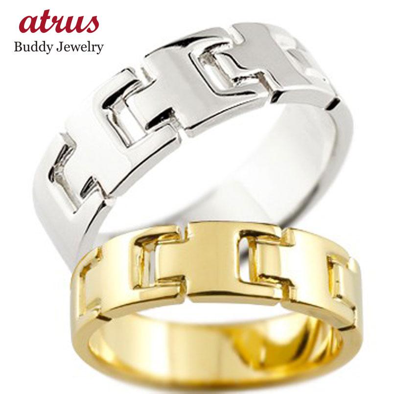 ペアリング 結婚指輪 マリッジリング 地金リング イエローゴールドk18 ホワイトゴールドk18 シンプル 結婚式 18金 宝石なし 人気 ストレート カップル 贈り物 誕生日プレゼント ギフト ファッション パートナー 送料無料