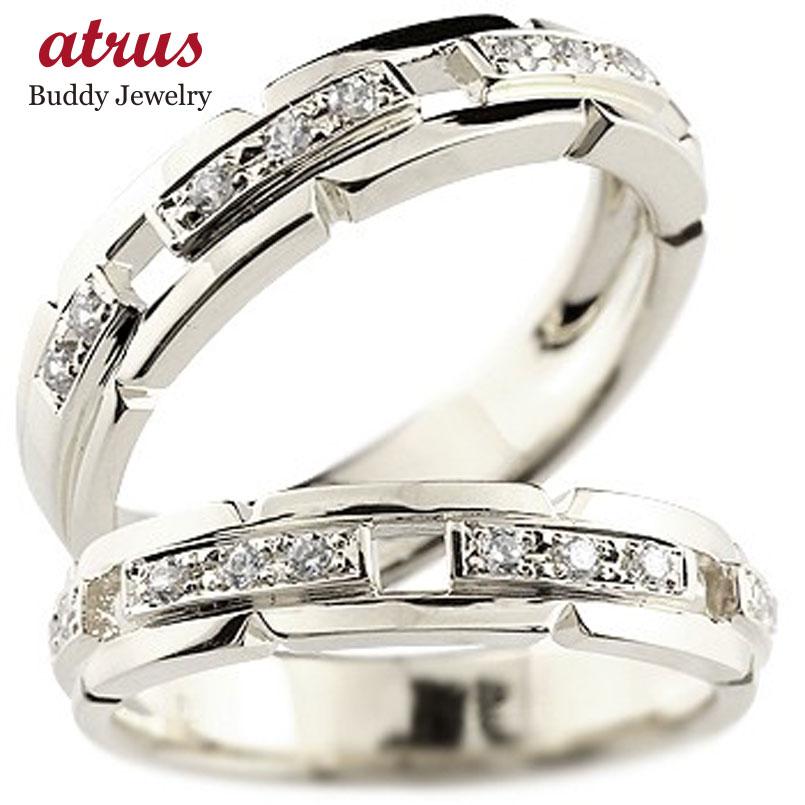 ペアリング キュービックジルコニア シルバーリング 結婚指輪 マリッジリング 幅広 指輪 ストレート カップル 贈り物 誕生日プレゼント ギフト ファッション パートナー 送料無料
