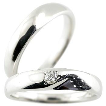 結婚指輪 プラチナ ペアリング ダイヤモンド マリッジリング プラチナリング 一粒ダイヤ 地金 pt900 結婚式 シンプル ストレート カップル 贈り物 誕生日プレゼント ギフト ファッション パートナー 送料無料